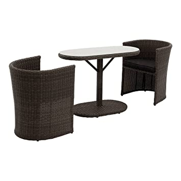 Amazon De Outliv Balkonmobel Set Rattan Breakfast Balkonset 3 Tlg