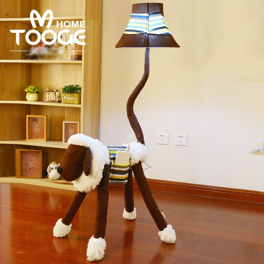 HOMEE Child cartoon lovely cloth floor lamp creative lamps bedroom table lamp study living room vertical table lamp / 3 colors available,3- Dimming switch by HOMEE (Image #1)