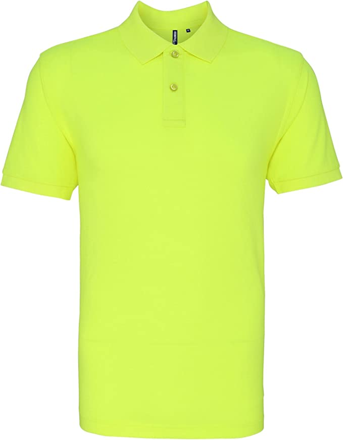 Asquith & Fox Asquith and Fox Mens Polo, Amarillo (Neon Yellow ...