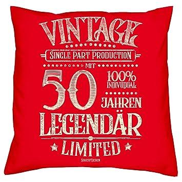 Soreso Diseño Regalo 50 cumpleaños: +: con 50 años legendär ...