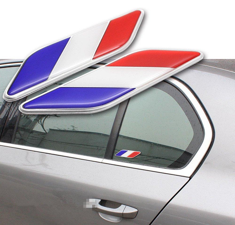 2x Voiture Autocollants Sticker Drapeau Franç ais Pour Dé coration Voiture Adhé sif Chytaii 46LB094447IH2G4184