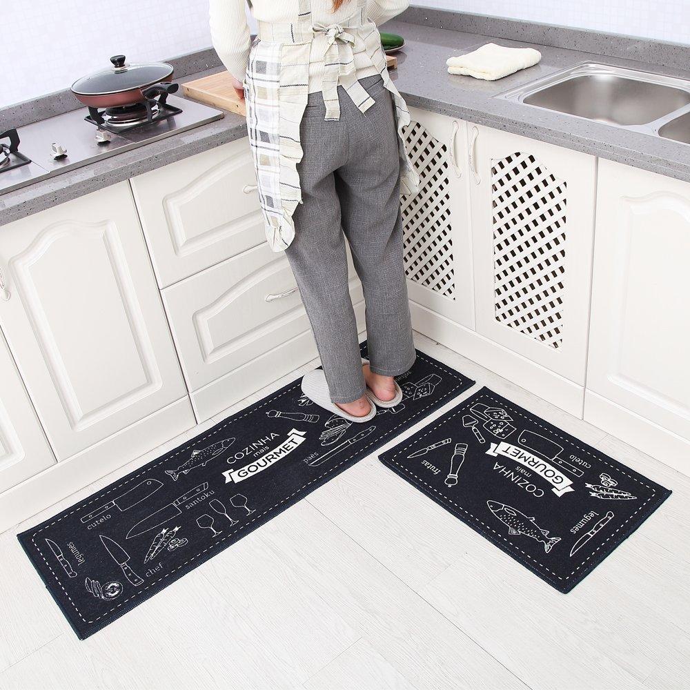 Amazon.de: Carvapet 2 Stück rutschfeste Küchenmatte Rückseite aus ...