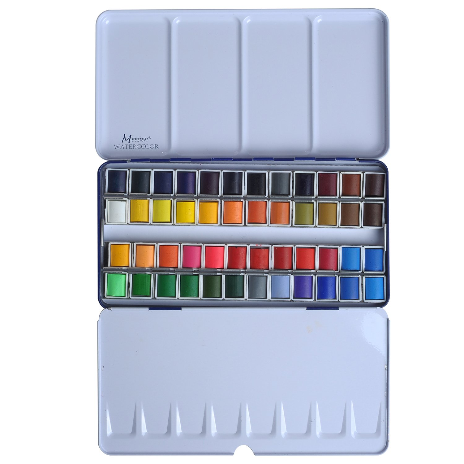 36 assorted watercolor paints set travel pocket solid water color
