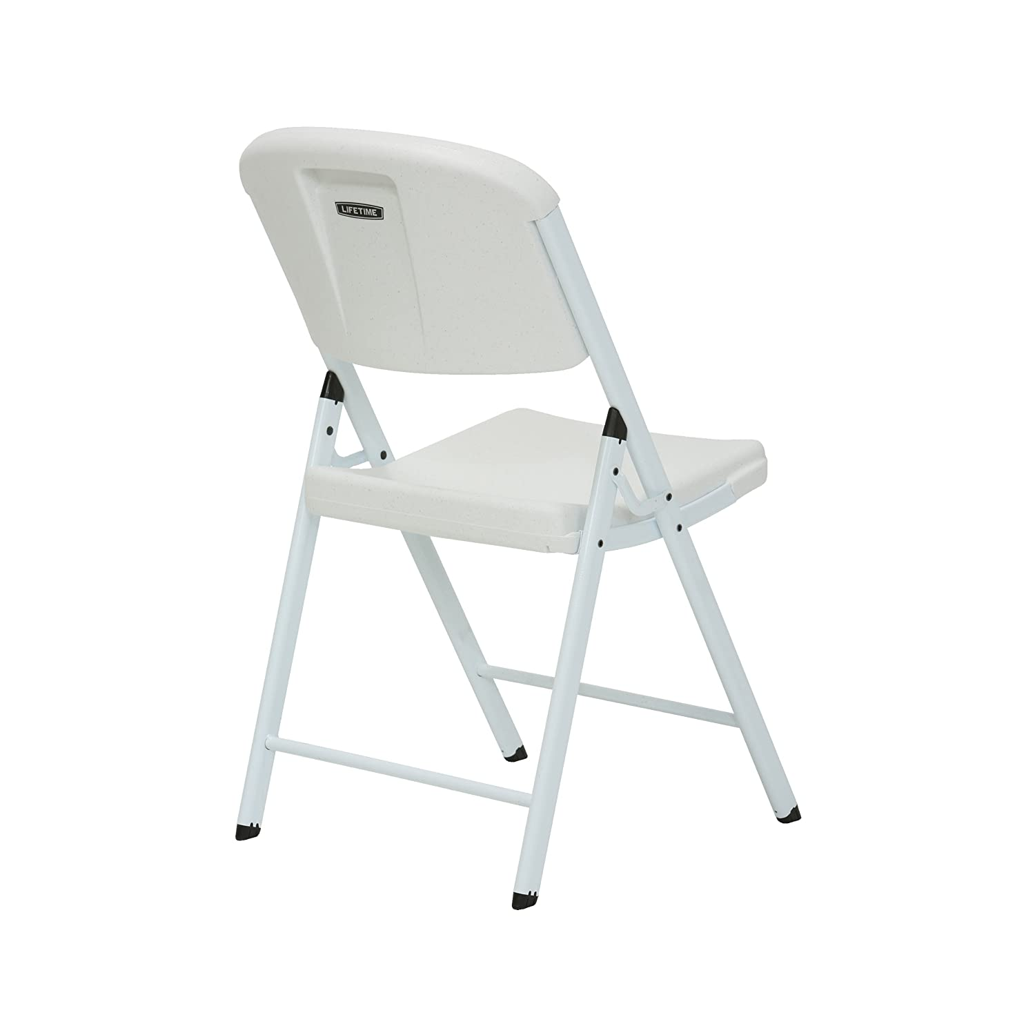 Amazon Lifetime Classic mercial Folding Chair White