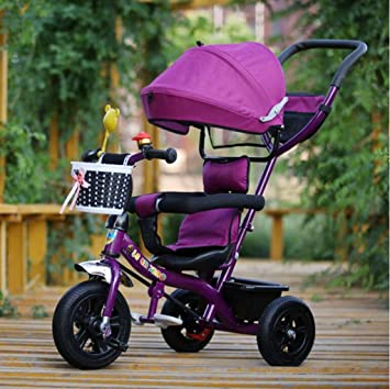 Carrito de bebé Cochecito de Triciclo para niños / 1-3-5 ...