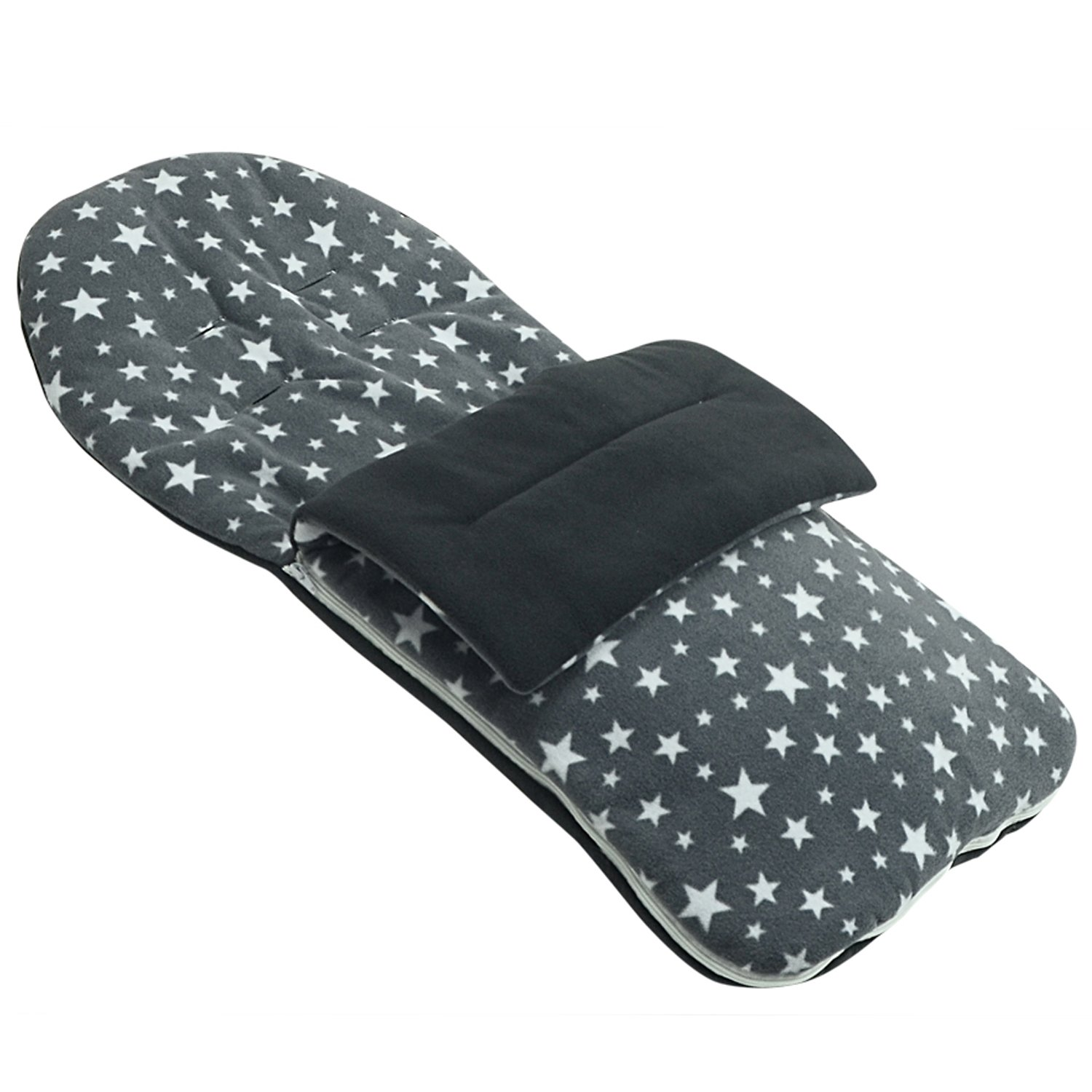 Fleece Footmuff Compatible with Concord Stroller Buggy Pram - Grey Star For-Your-Little-One