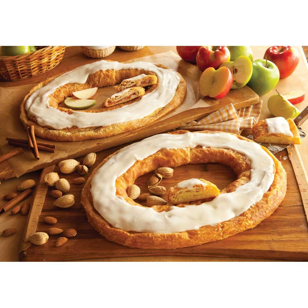 Danish Kringle Pair - Apple and Almond by O&H Danish Bakery (Image #1)