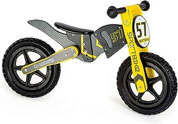 Small Foot 10739 - Bicicleta de Paseo de Madera, diseño de Motocross, Asiento Triple Ajustable con sillín Suave, Tren el Equilibrio: Amazon.es: Juguetes y juegos