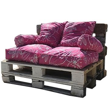 Coussins pour palette rose fushia banc de jardin - Ensemble complet ...