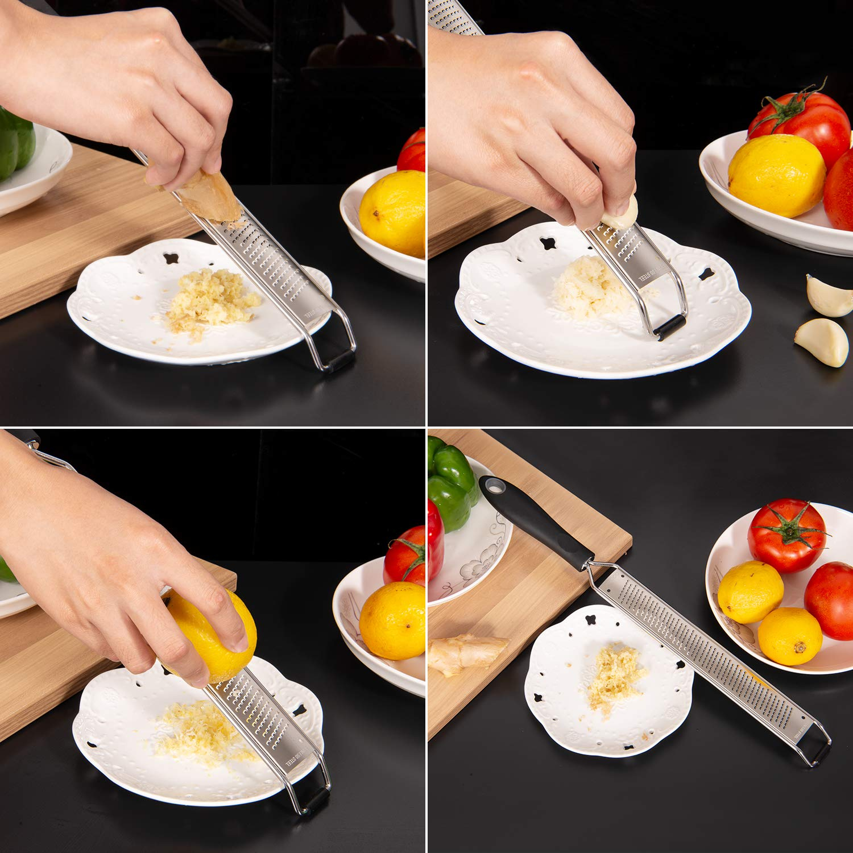 Nutmeg Adoric Handheld Lemon Zester for Kitchen Veggies Parmesan Chocolate Cheese Grater Fruits Razor Sharp Blades Ideal Grater Zester for Lemon Ginger Garlic
