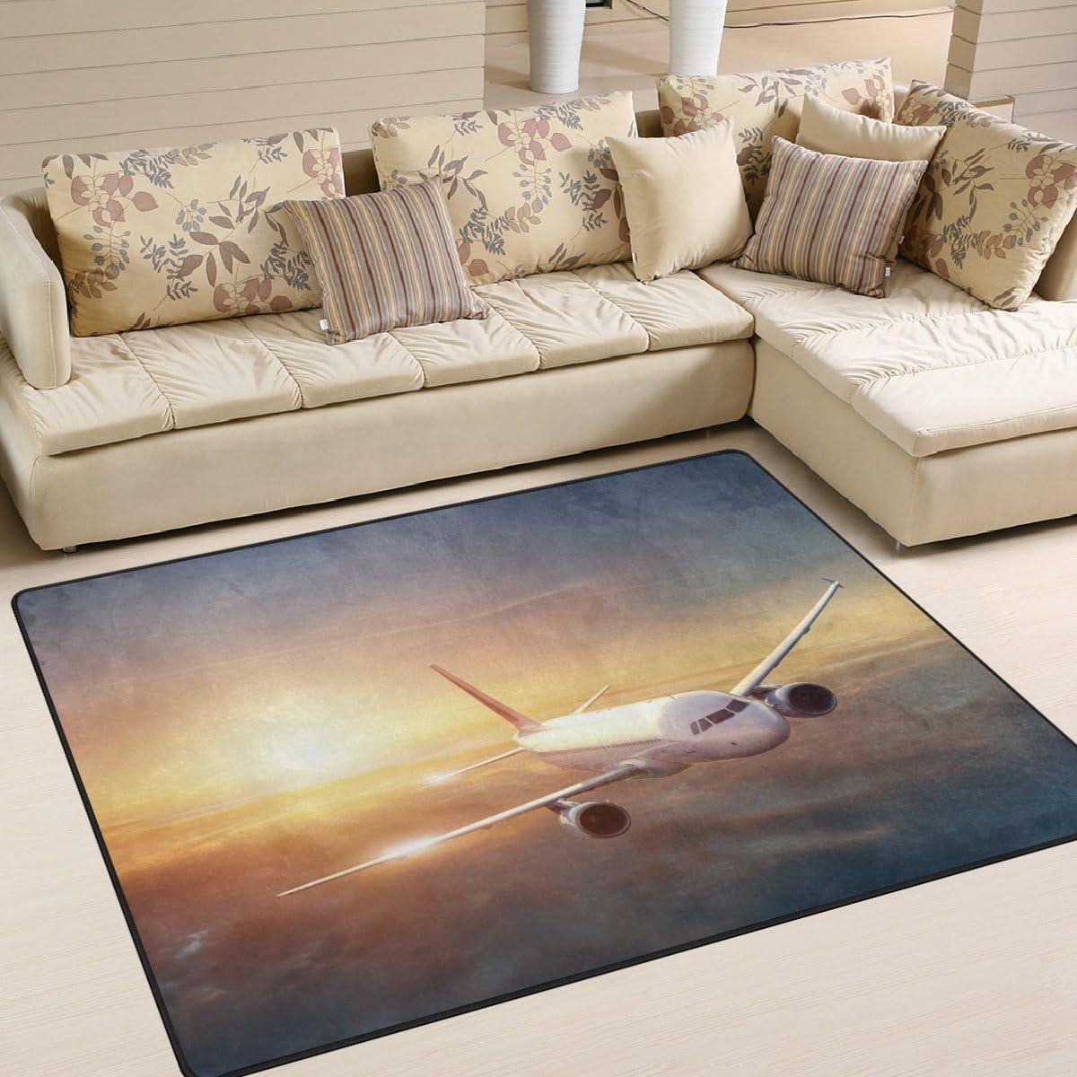 LORVIES Airplane Cotton Area Rug