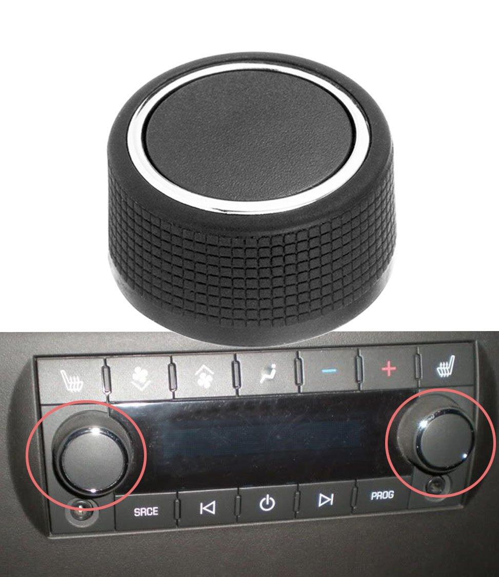 1pc Rear Audio Radio Control Knob Button for 07-13 Chevrolet Tahoe Silverado GMC Cadillac Acadia Denali Yukon Sierra GM 22912547 YIFAT