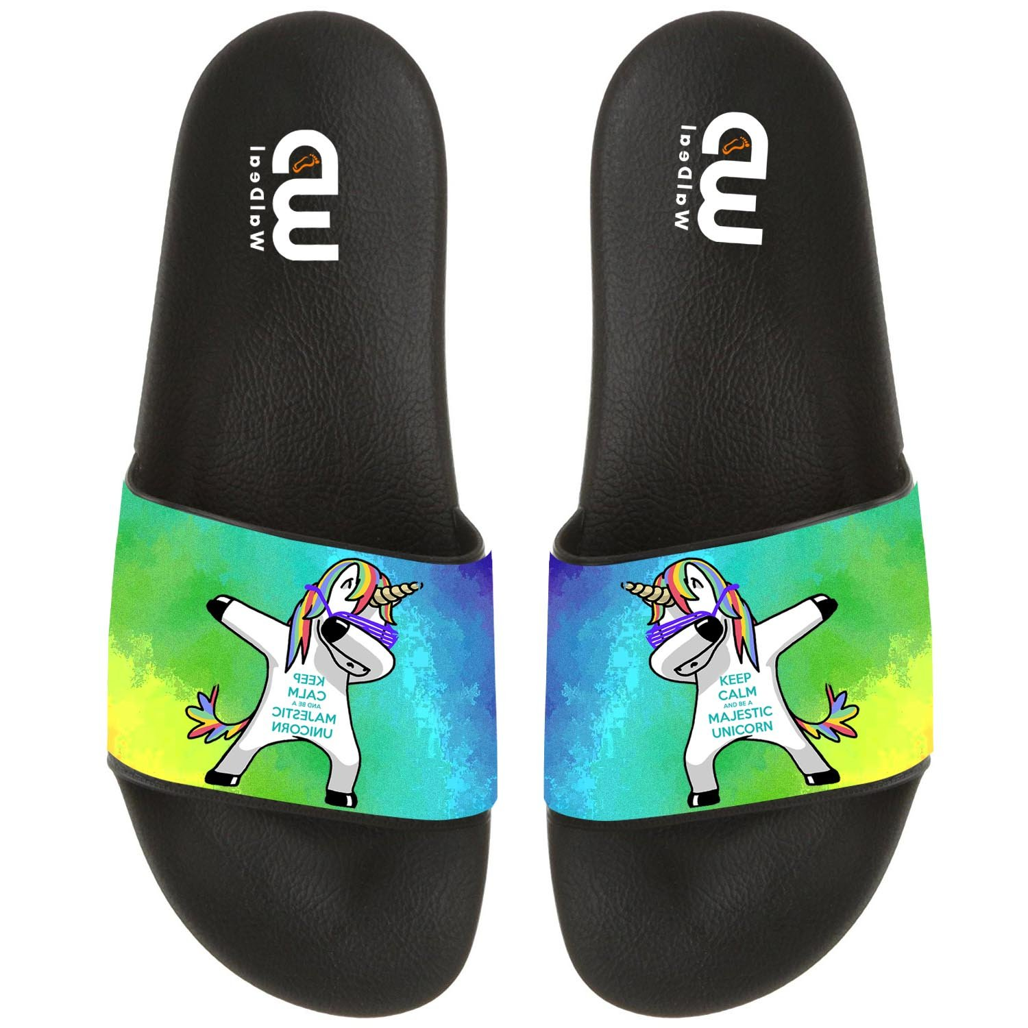 Cartoon Cute Dabbing Unicorn Summer Slide Slippers For Boy Girl Outdoor Indoor Beach Casual Sandals Shoes by OriginalHeart (Image #1)