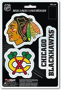 NHL Chicago Blackhawks Team Decal, 3-Pack