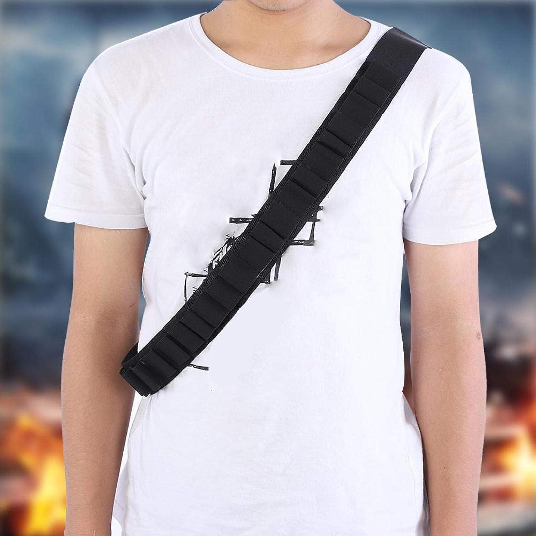 Demeras Cinturones de Cartucho de cinturón de cáscara de Escopeta duraderos Cinturones de Cartucho de Escopeta de Caza Cartucho de Rifle(Black)