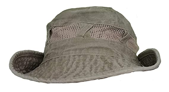 46b297b6 Wide Brimmed Stonewash Cotton Boonie Hat for Hiking Fishing & Outdoors Sun  Protection (Black) at Amazon Men's Clothing store: