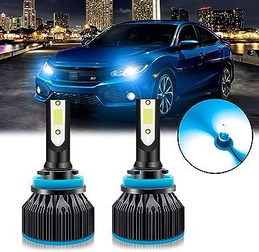 2pcs 9005 HB3 8000K Ice Blue LED Headlight Bulbs Kit High Low Beam For Fog DRL