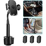 Soporte de coche para teléfono, ajustable cuello de cisne portavasos portátil soporte de coche para iPhone XR Xs XS Max X 8 7