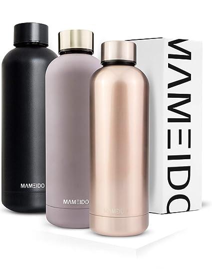 MAMEIDO Botella 500 ML, Termo de Acero Inoxidable, De Gran ...