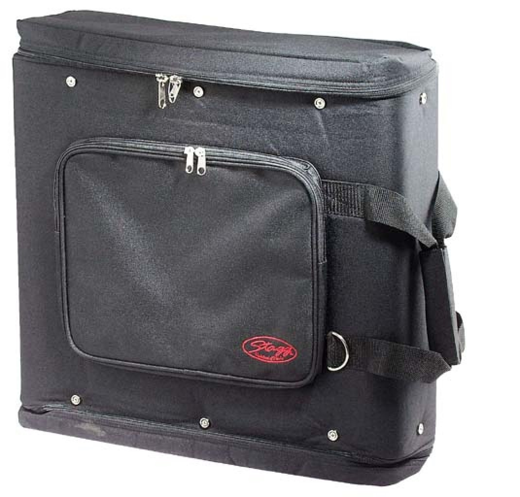 Stagg RB-2U Two Piece Rack Carrying Bag with Adjustable Carrying Strap - Black