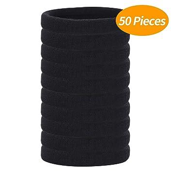 Amazon.com: senkary 50 piezas grandes gomas para el pelo sin ...