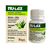 Nulax Natural Laxative Tablets With Prebiotic Senna + Aloe 40 Tablets