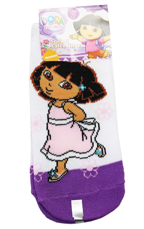 Amazon.com: Dora the Explorer Sundress and Flowers Violet/White Socks (Size 6-8, 1 Pair): Clothing