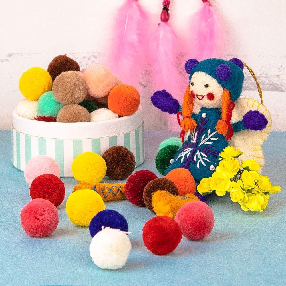 progetti scolastici fai-da-te cucito /Ø30mm fai-da-te RUBY- 50 pompon a sfera per artigianato