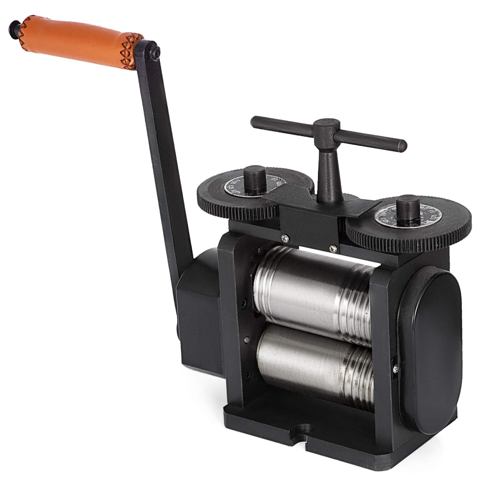 Mophorn Jewelry Rolling Mill Combination Rolling Mill 130mm Wide 65mm Diameter Rollers Manual Rolling Mill Machine Jewelry Marking Tools for Jewelers and Crafts-People by Mophorn (Image #5)