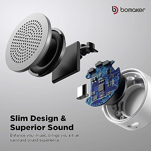 Bluetooth Speaker, Portable Bomaker Mini Wireless Speaker Stereo Sound, Built-in Mic
