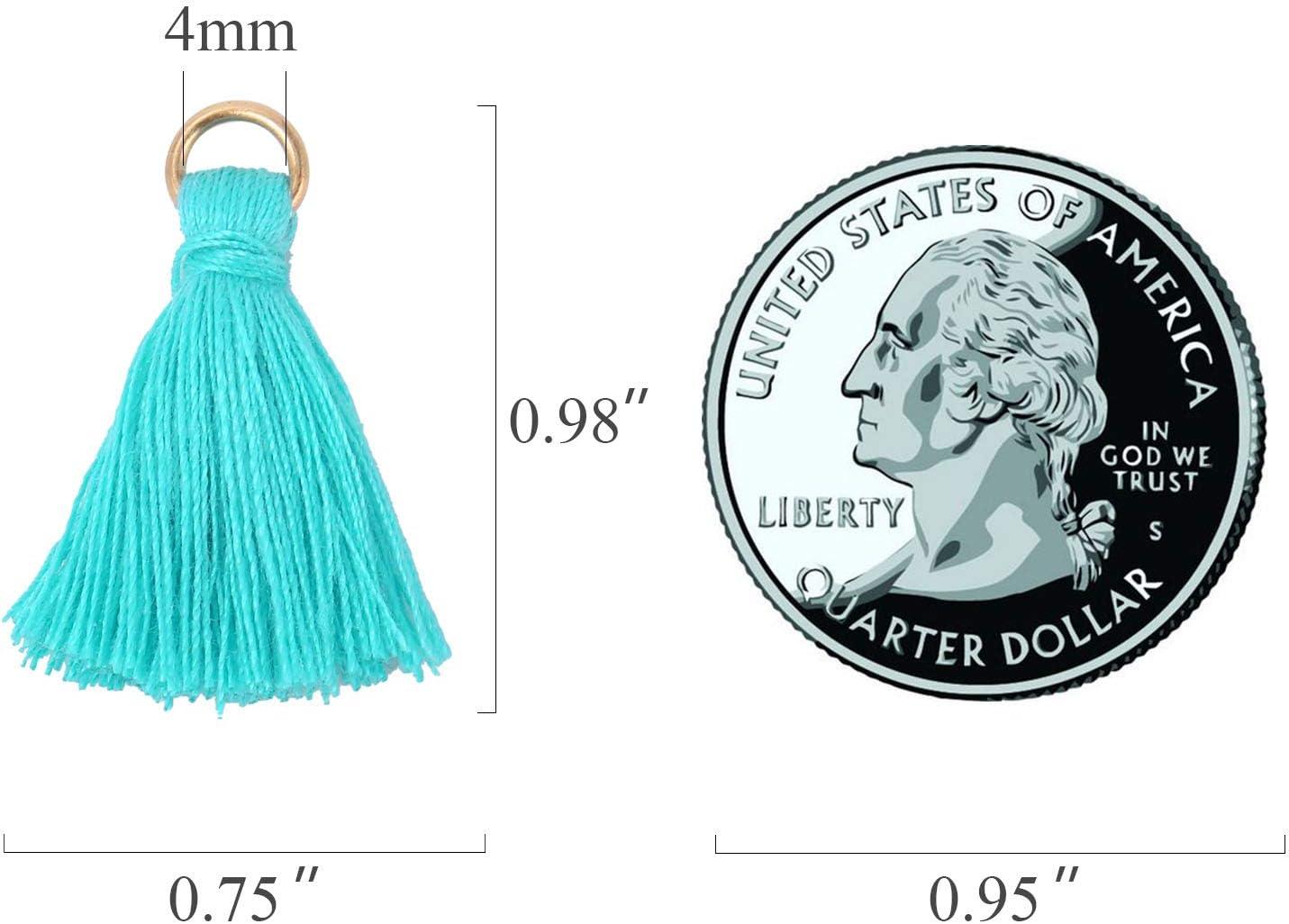 Wholesale Mini Tassel Charms Tiny Short Cotton Thread Tassels Bulk for Crafts and Jewelry Making 95-100PCS