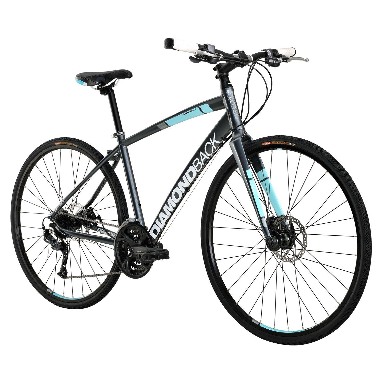 Diamondback Clarity 3レディースパフォーマンスハイブリッドバイク – 2016パフォーマンスExclusive B01GYVNN02シルバー Large