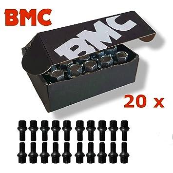 20 Tornillos de Rueda Negro V W llave para pernos de rueda llantas Llantas de Acero: Amazon.es: Coche y moto