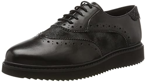 Nero 38.5 EU GEOX D THYMAR B BROGUE DONNA BLACK/ANTHRACITE Scarpe