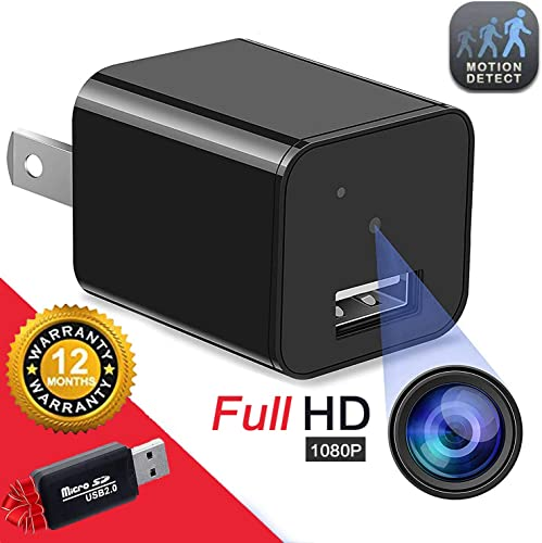 Hidden Camera Spy Camera Charger Full HD 1080P Surveillance Camera Mini Spy Nanny Camera Portable Hidden Cam 2020