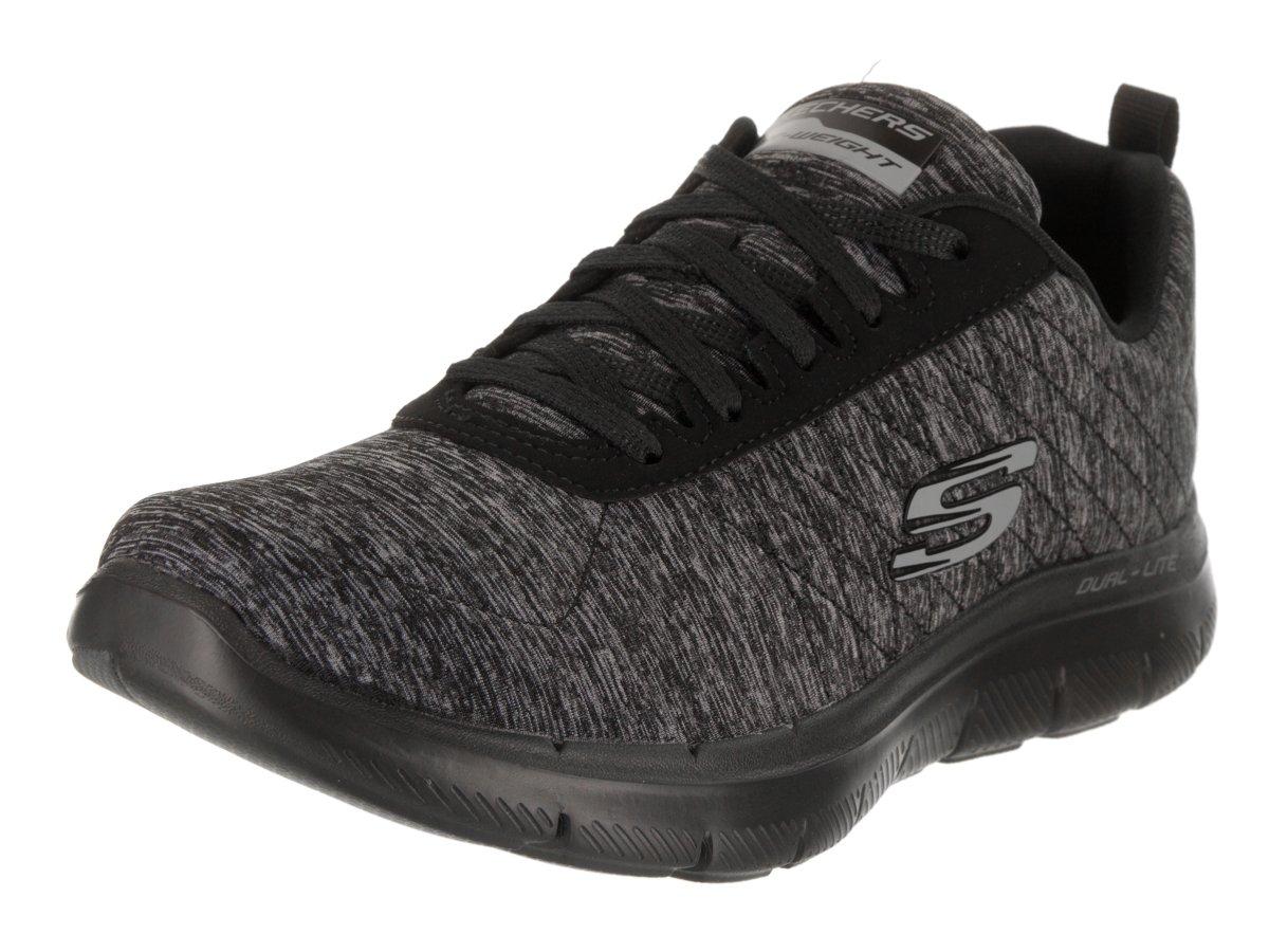Skechers Sport Flex Appeal 2.0-12753 Women's Sneaker 7 B(M) US Black-Black