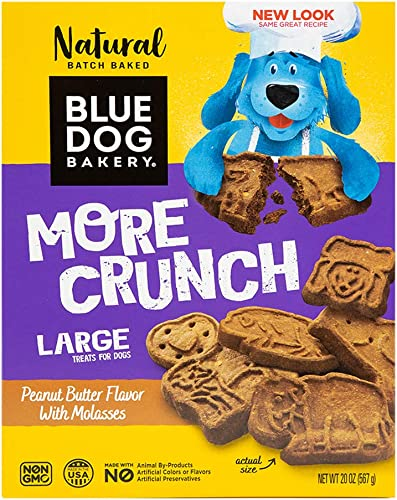 Blue Dog Bakery Natural Dog Treats, Original, Peanut Butter Molasses Flavor