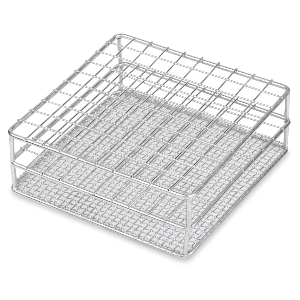 Stainless Steel Test Tube Rack, 16/18mm, 100 Place, Wire Constructed, Karter Scientific 234M3 (Single)