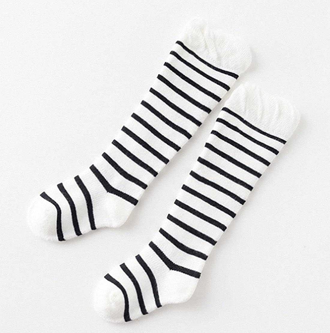 papala 5 Pack Baby Girls Boys Infant Toddler Thicken Cotton Striped Knee High Stockgings