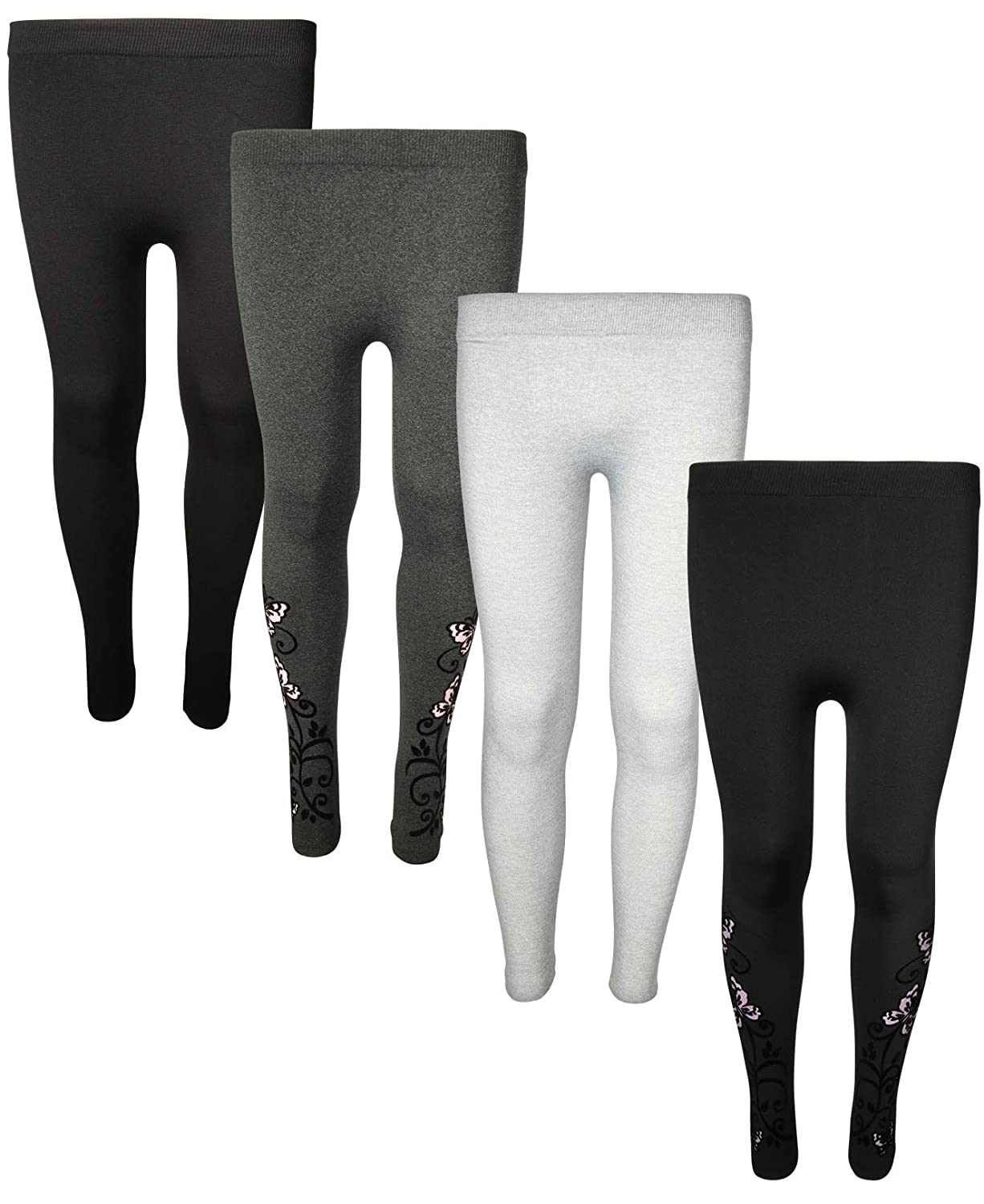 2256f6e6ac728 Amazon.com: Star Ride Girls Fleece Lined Leggings, Butterfly(one Size fits  All), 7-16': Clothing