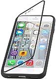 Coque iPhone 6 6s coque à rabat transparent | JammyLizard | Coque anti choc silicone à rabat flip cover étui intégral pour iPhone 6 6s, Noir