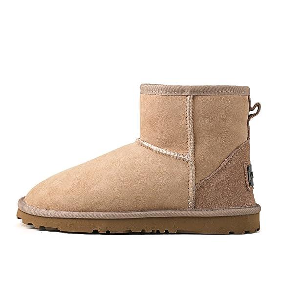 Women's Classic Short Sheepskin Boot Snow Boot S5854