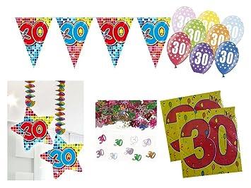 Set de decoración de fiesta 30 cumpleaños 26 piezas Muñeco ...
