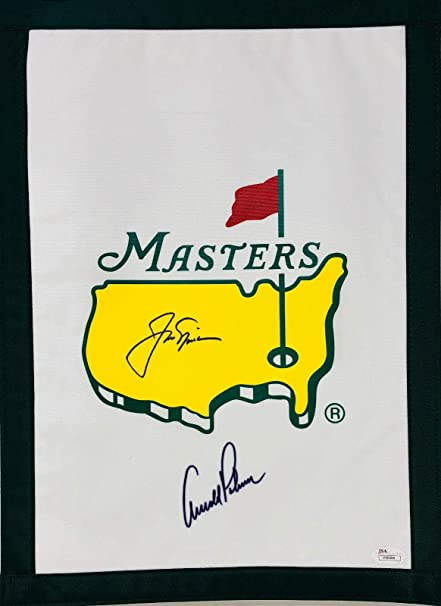 96aa2e32579 Jack Nicklaus and Arnold Palmer Autographed Masters Flag Signed - Letter LOA  - JSA Certified - Autographed Golf Pin Flags at Amazon s Sports  Collectibles ...