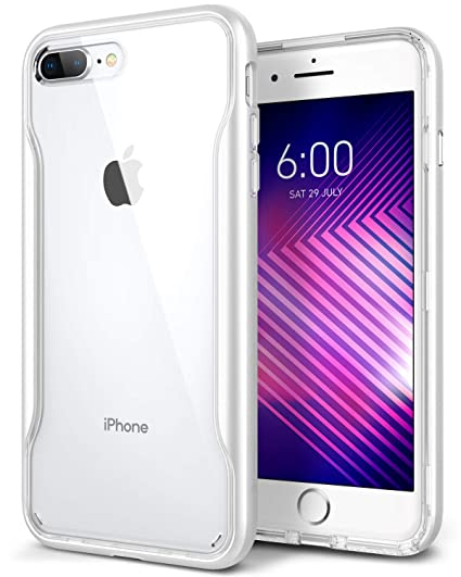 timeless design 37803 683e3 Caseology Apex Clear for iPhone 8 Plus Case (2017) / iPhone 7 Plus Case  (2016) - Slim & Transparent - White