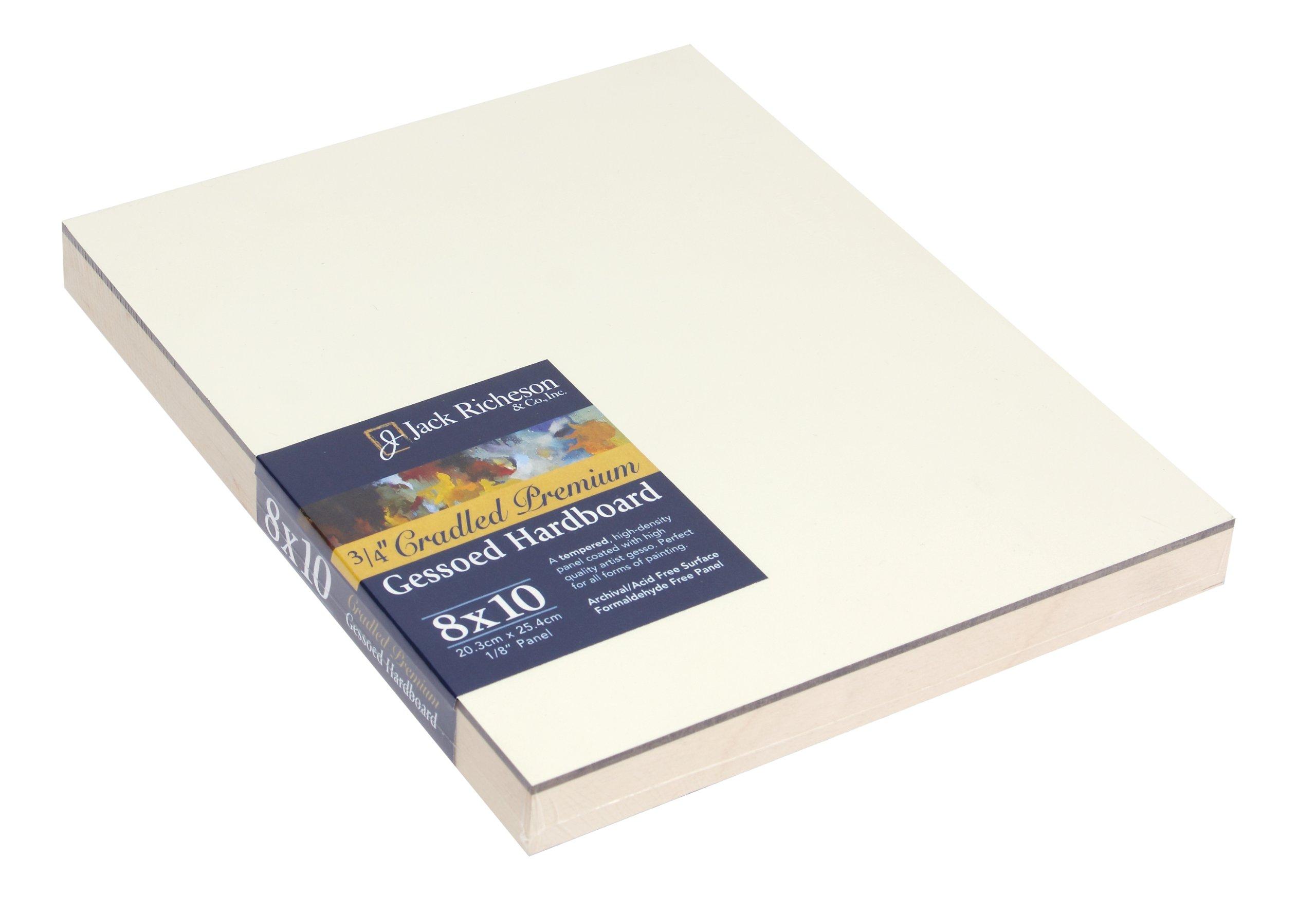 Jack Richeson 3/4-Inch Premium Tempered Gessoed Hardboard Panel, 8-Inch by 10-Inch