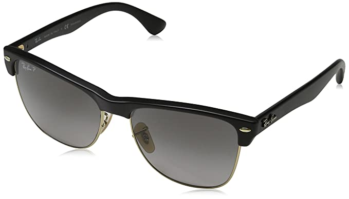 1275c4b6c2 Amazon.com  Ray-Ban Men s Clubmaster Oversized Polarized Square ...