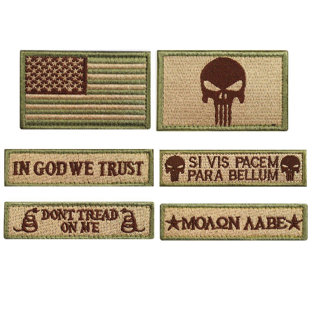 Bundle 6 Pieces Tactical Military Morale Patch Set (A) Creatrill 4337017947