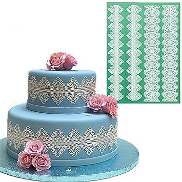 Anyana grandes flores de encaje boda decoración de pasteles herramientas fondant de silicona azúcar Fondant moldes