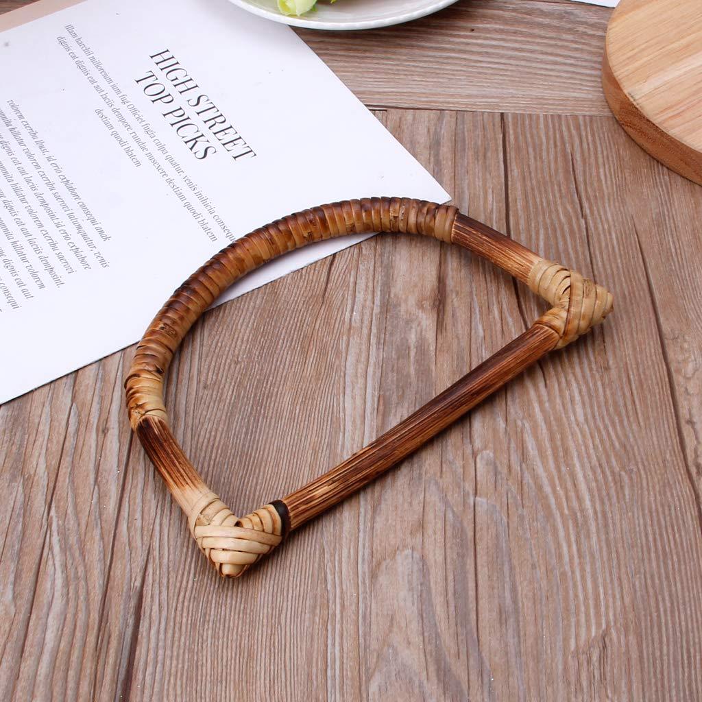 SimpleLife Sac /à Main en Bois de Bambou en Forme de D poign/ées pour Sacs /à Main fabriqu/és /à la Main Accessoires